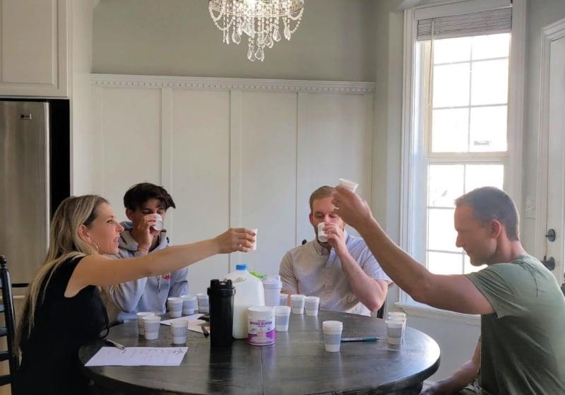 taste testing protein powder