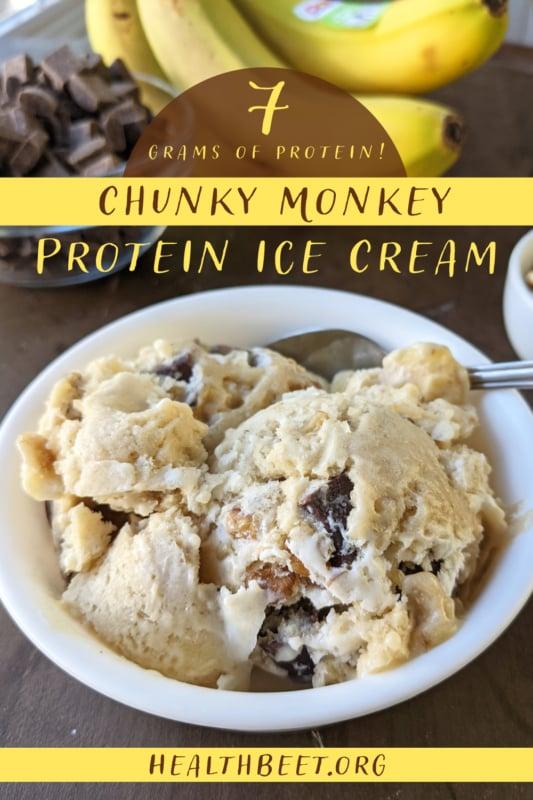Chunky Monkey Protein Ice Cream Pin 1000x1500