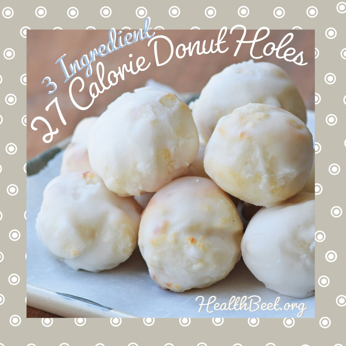 Sugar Free fat free Donut Hole Polka Dot