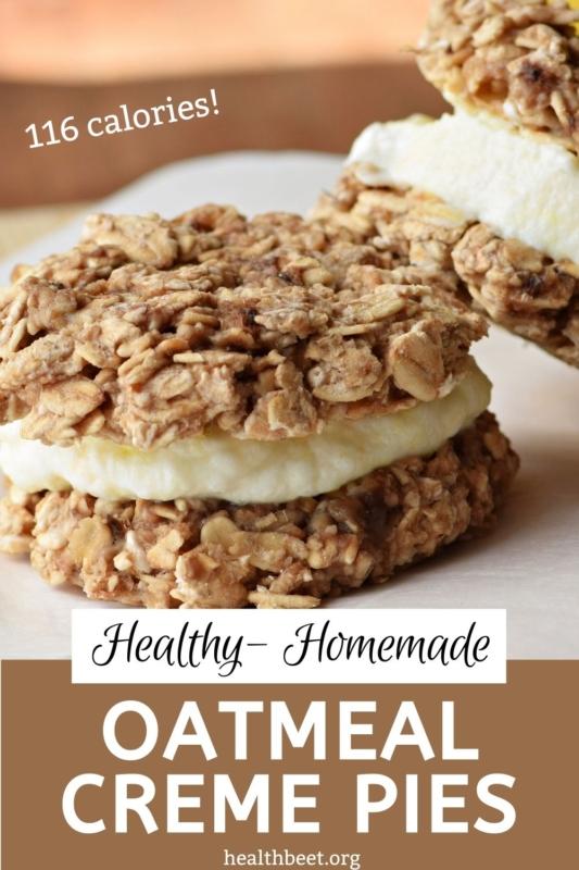 Healthy Homemade Oatmeal Creme Pies