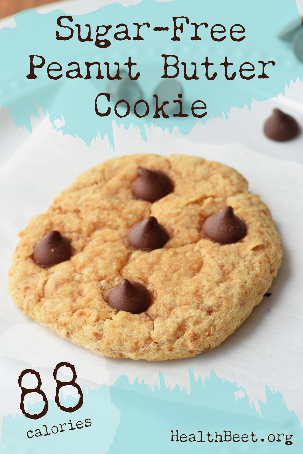 Sugar free peanut butter chocolate chip cookie, single serving