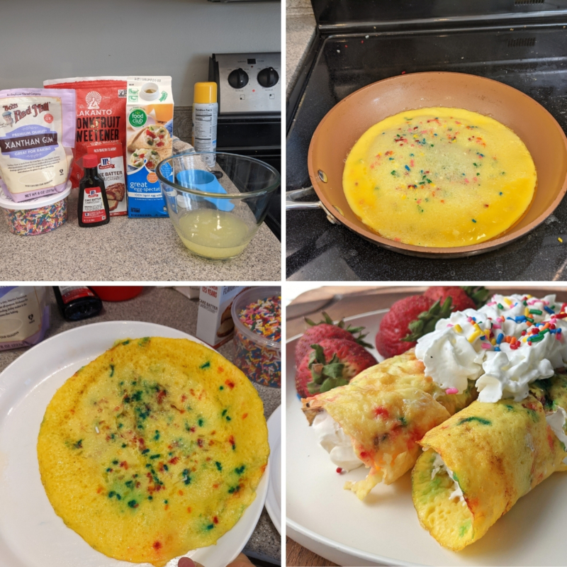 making egg white muscleegg copycat crepes