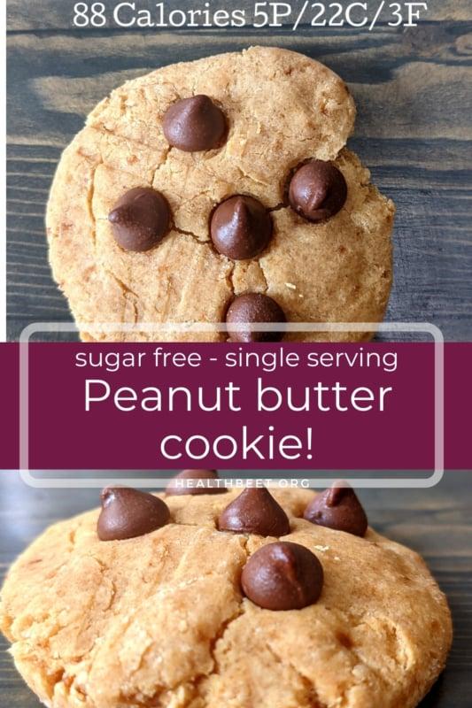single serving sugar free peanut butter cookie