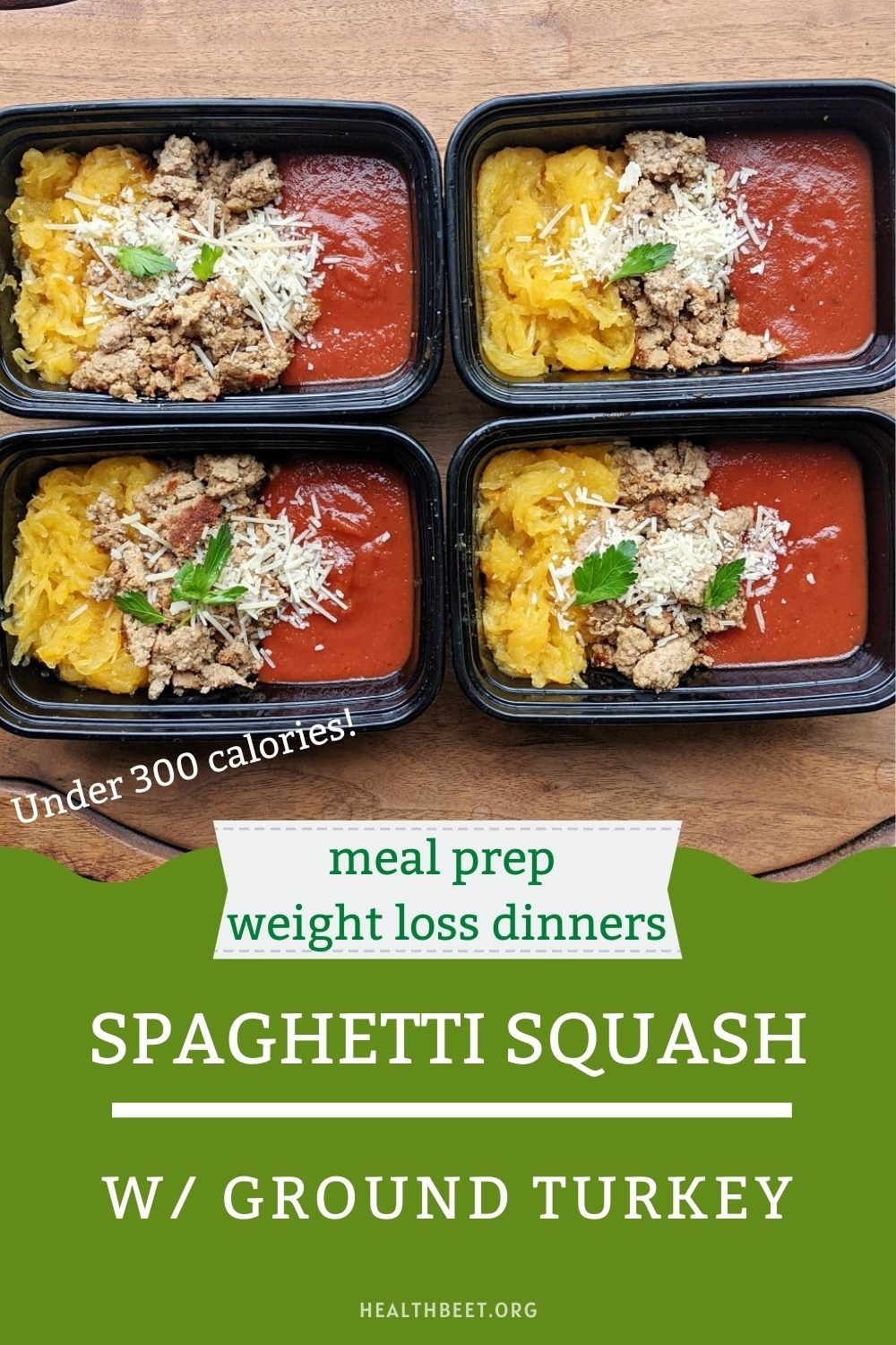 spaghetti squash with ground turkey weight loss dinner idea under 300 calories with bitter