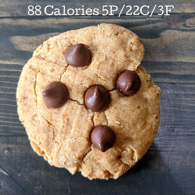 sugar free peanut butter chocolate chip cookie
