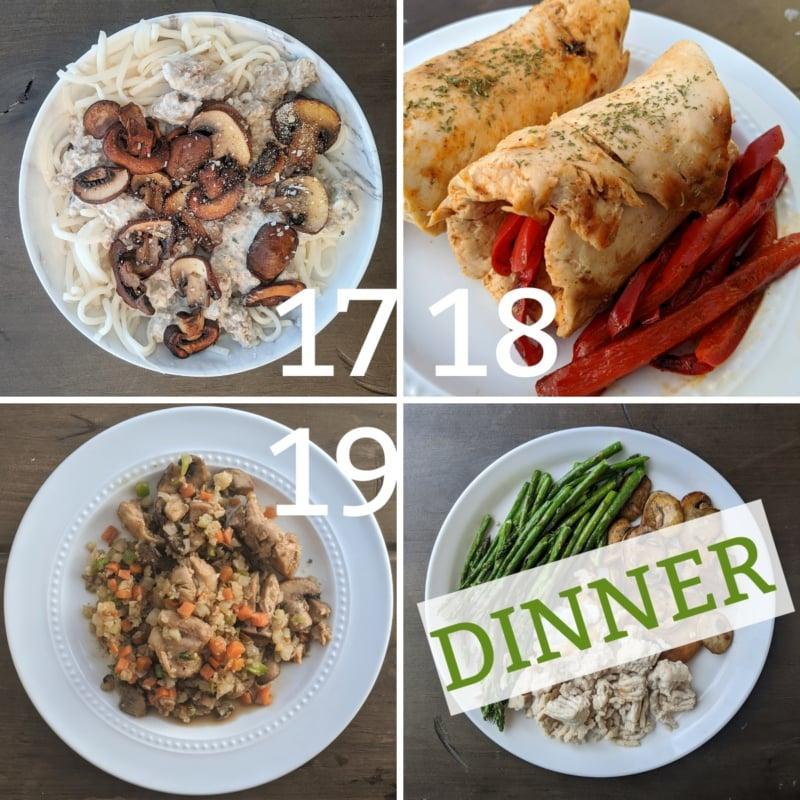 weight loss dinner 17-19