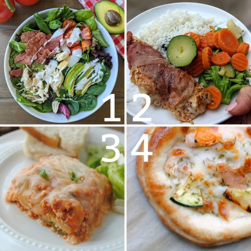 weight loss dinner ideas 1-4