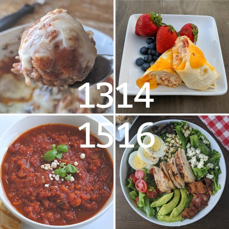 weight loss dinner ideas 13-16