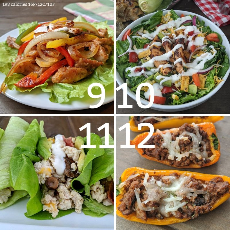 weight loss dinner ideas 9-12
