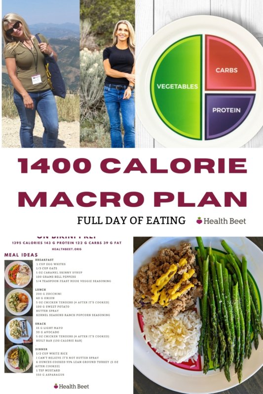 Full day of eating on 1400 calorie macro plan