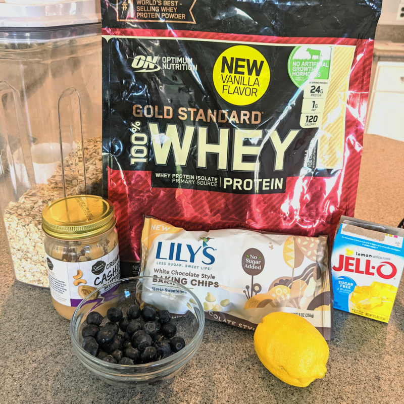 Lemon Blueberry Protein Bars Ingredients 1200x1200