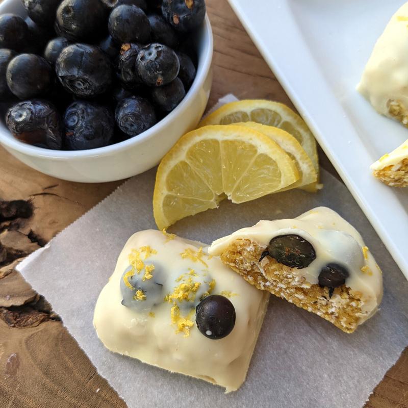 Lemon Blueberry Protein Bars Sunset 1200x1200