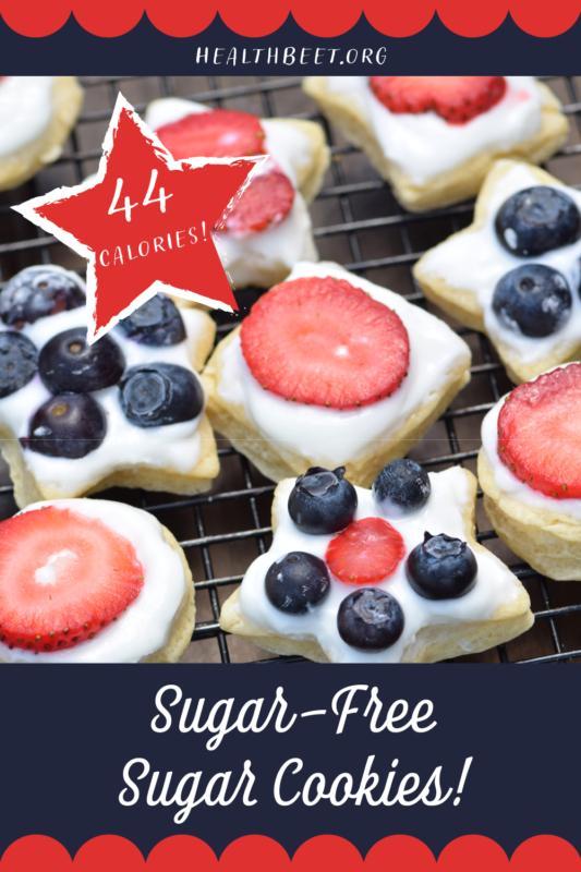 Healthy sugar cookies with zero sugar