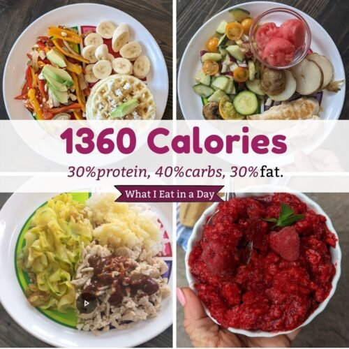 1360 calorie day 30 % protein 40 % carbs and 30% fat thumbnail