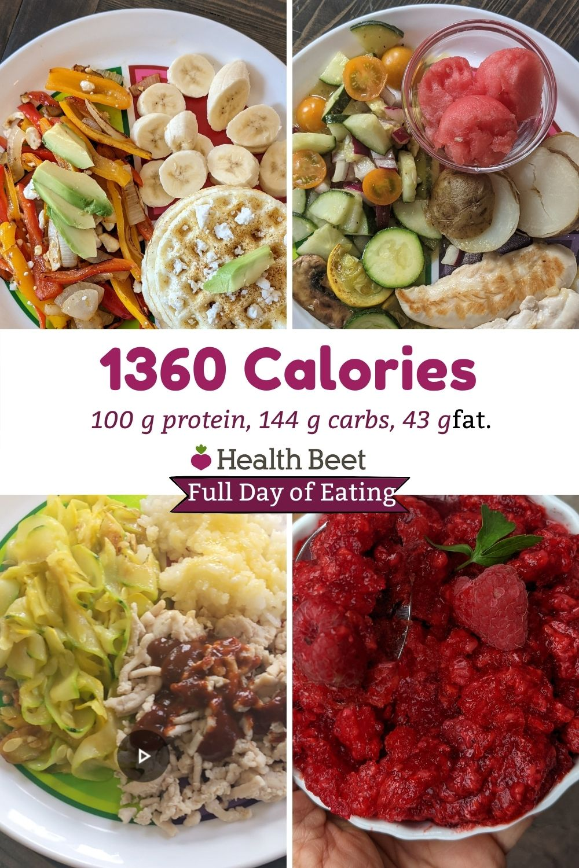 1360 calorie day on macro diet