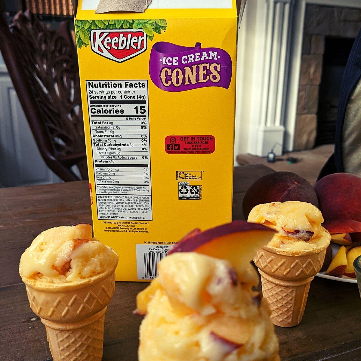 15 calorie ice cream cones