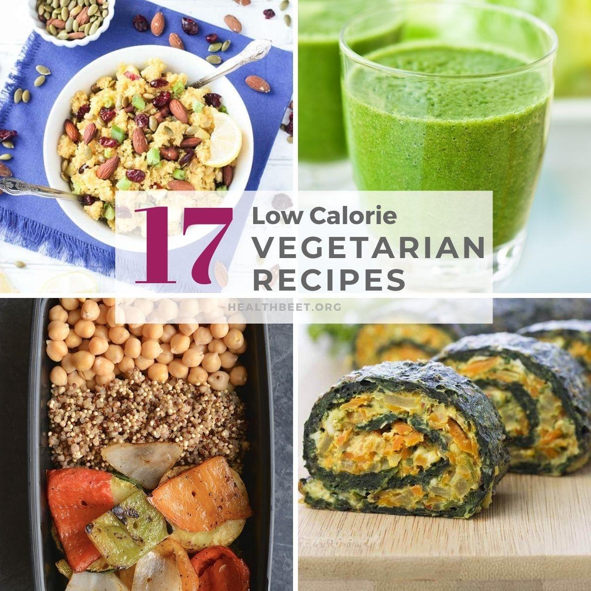 17 low cal delicious vegetrarian recipes