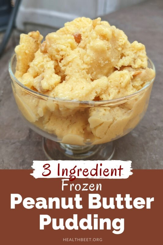 3 ingredient light low fat frozen peanut butter pudding