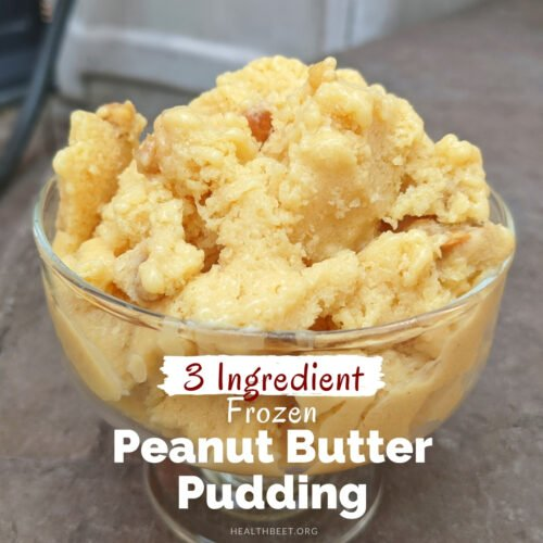 3 ingredient light low fat frozen peanut butter pudding thumbnail