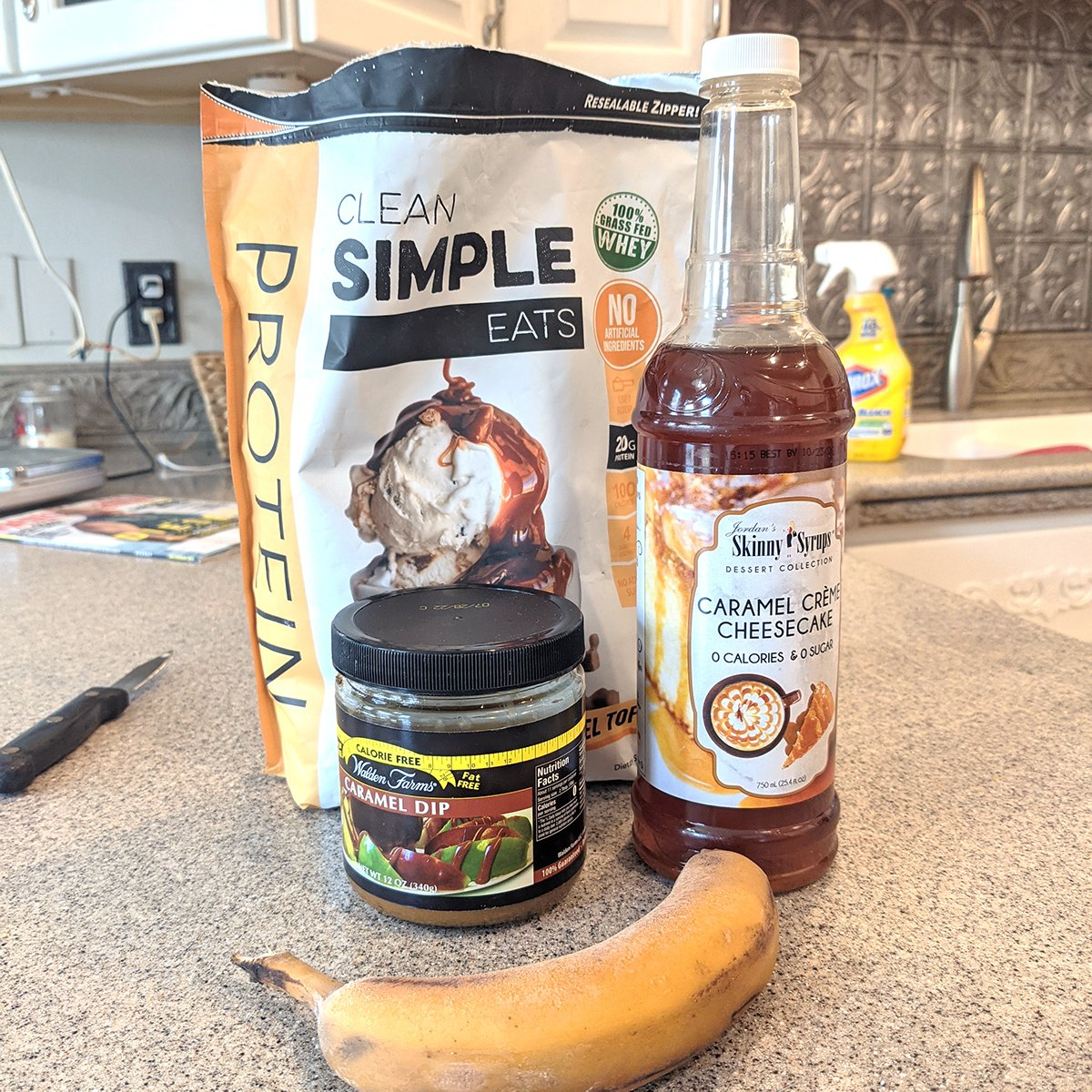 Banana Caramel Ice Cream Ingredients 1200x1200