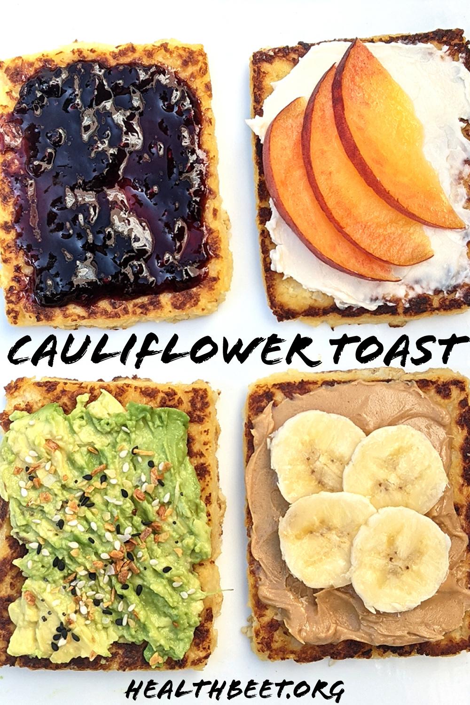 EASY Cauliflower Toast recipe