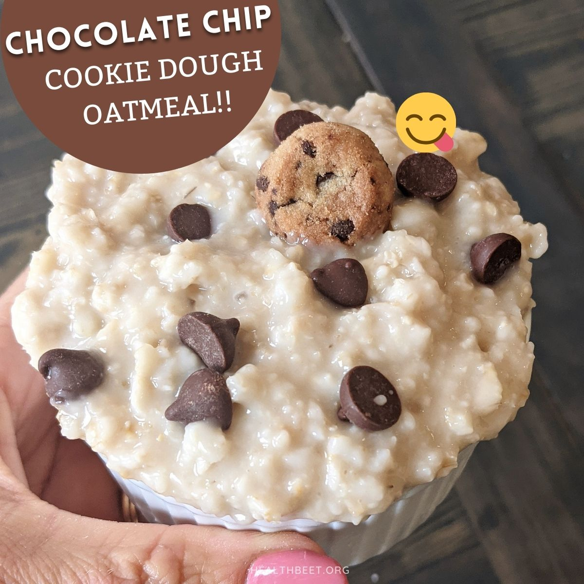 Healthy breakfast chocolate chip cookie dough