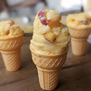 Peaches and Cream Protein Ice cream 1200x1200