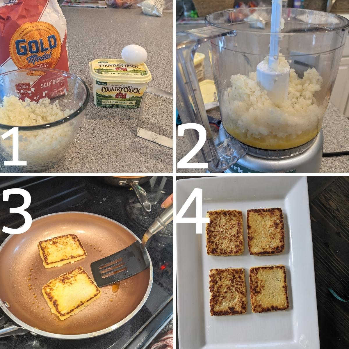 easy steps for making cauliflower toast