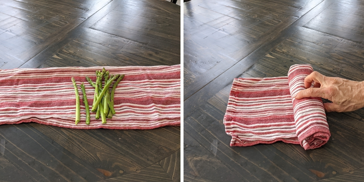 steps for microwave hack to cook asparagus