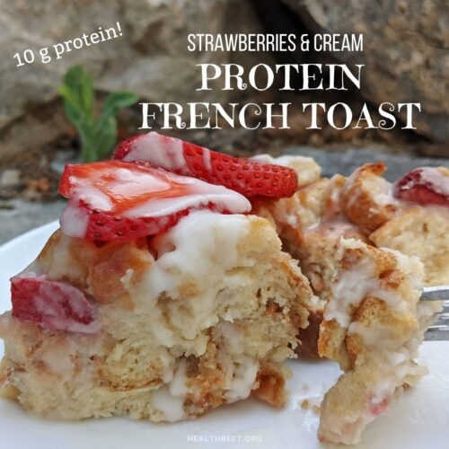 strawberries and cream protein french toast thumb
