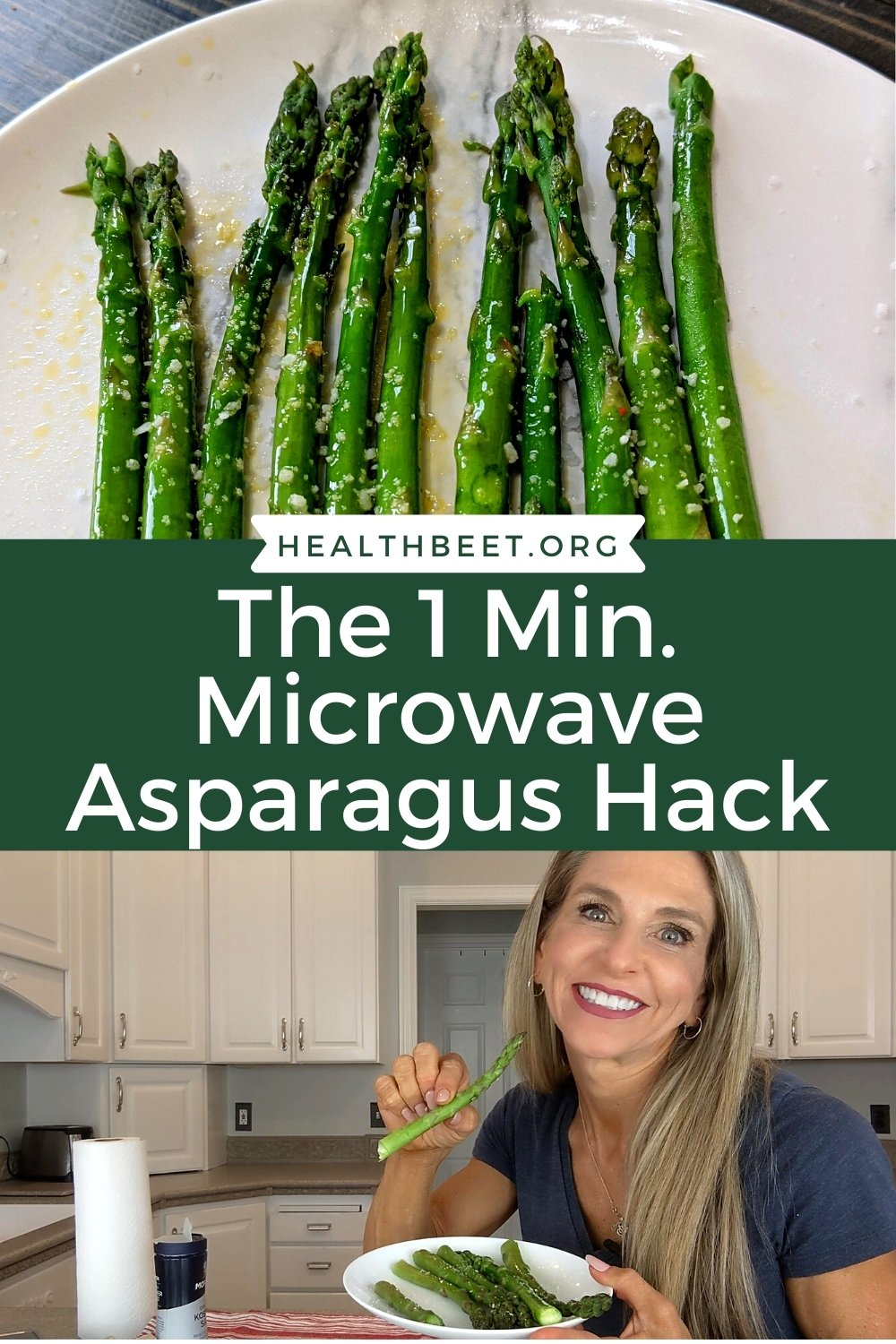the one minute microwave asparagus hack