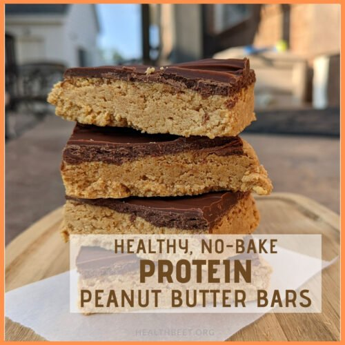 Healthy no-bake protein peanut butter bars