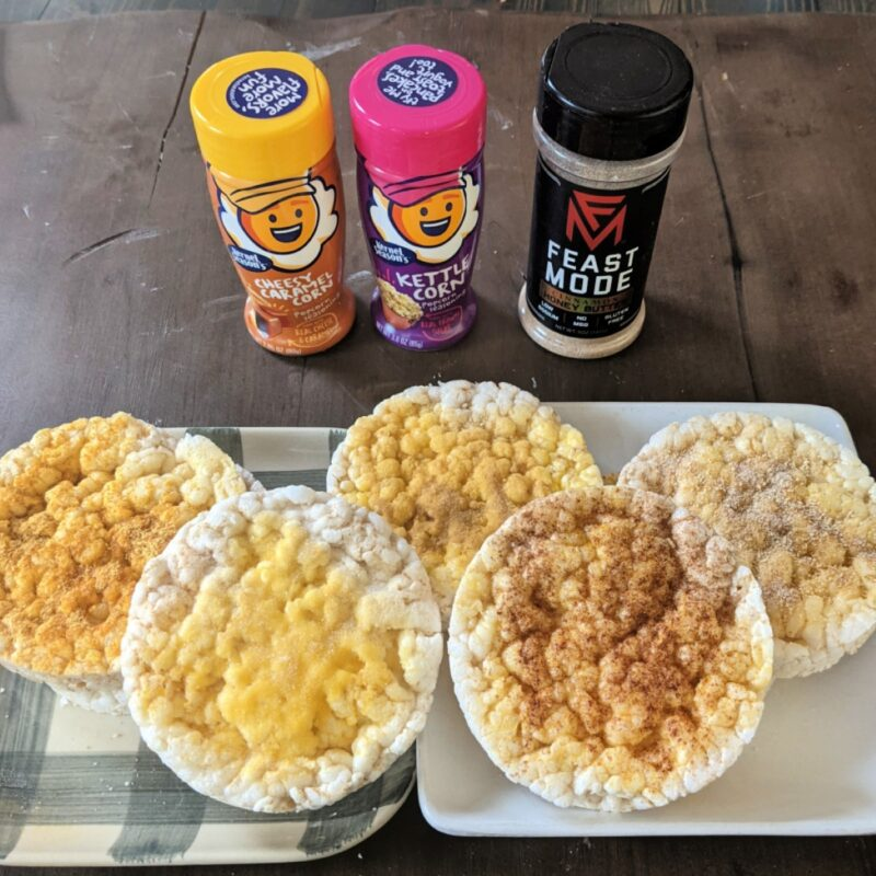 easy homemade flavored rice cakes with seasonings square (Custom)