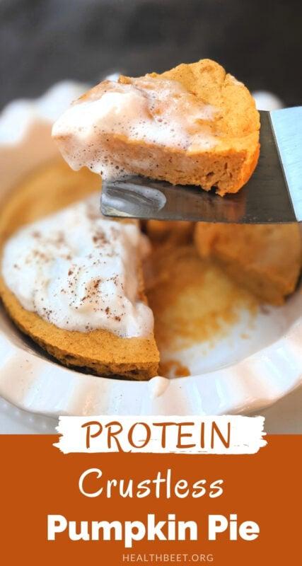 Protein pumpkin crustless pie