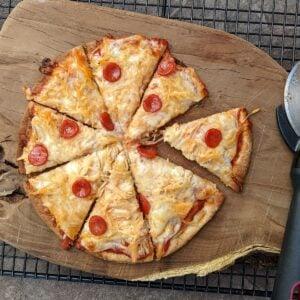 low calorie parmesan pizza