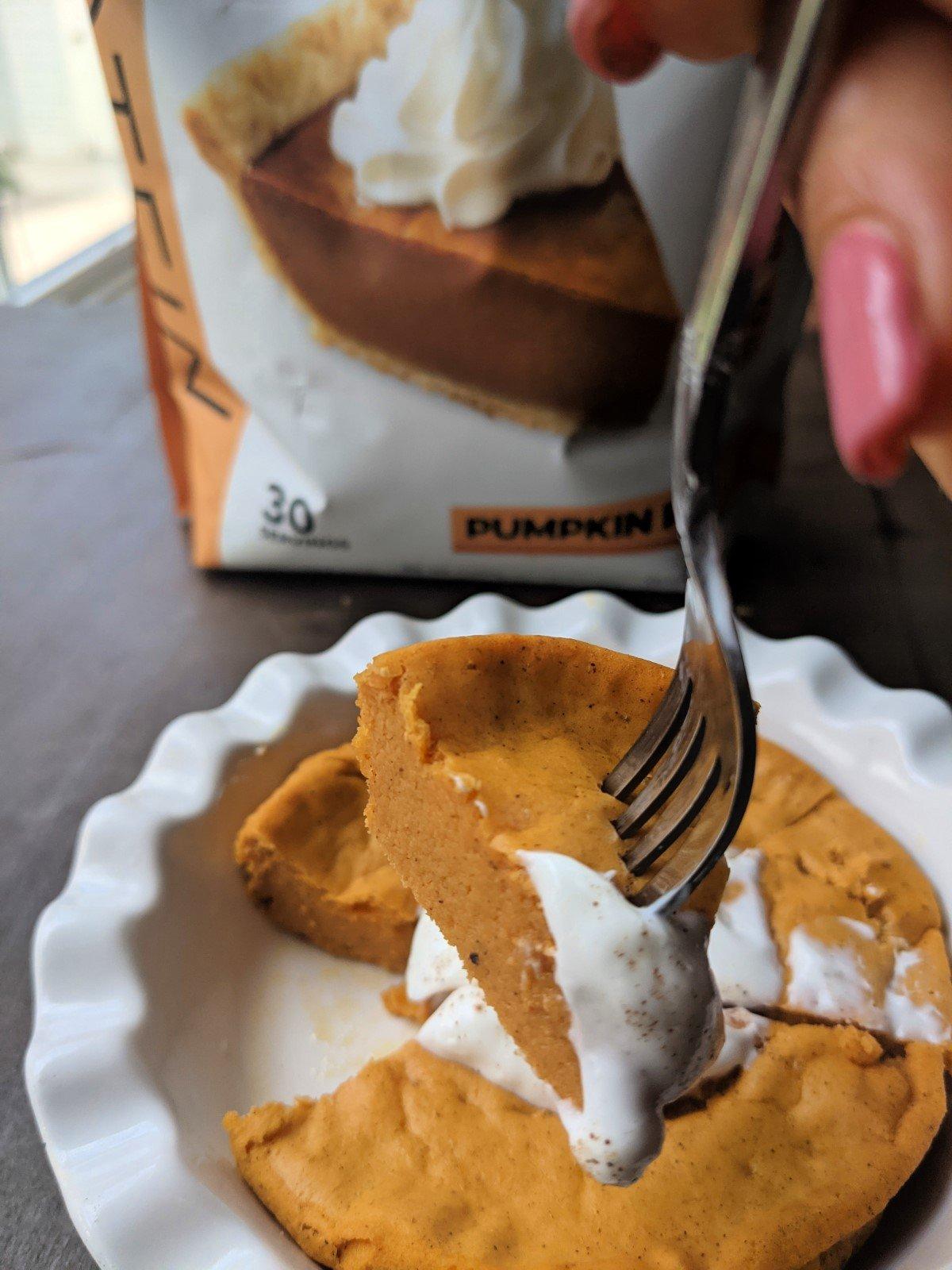 protein pumpkin pie with clean simple eats protein powder