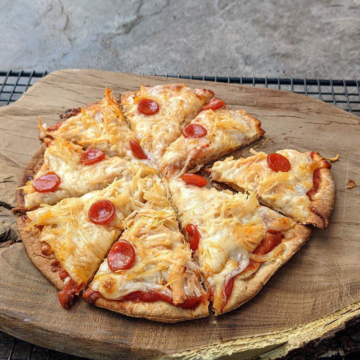 whole quick and healthy pizza (Custom)