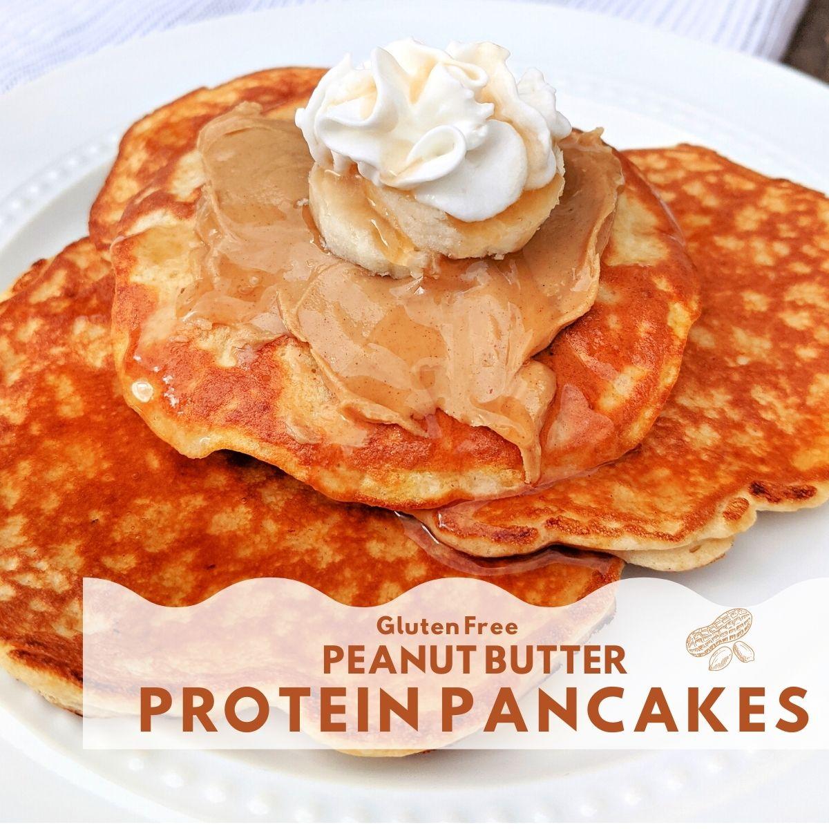 Gluten free peanut butter protein pancakes thumbnail