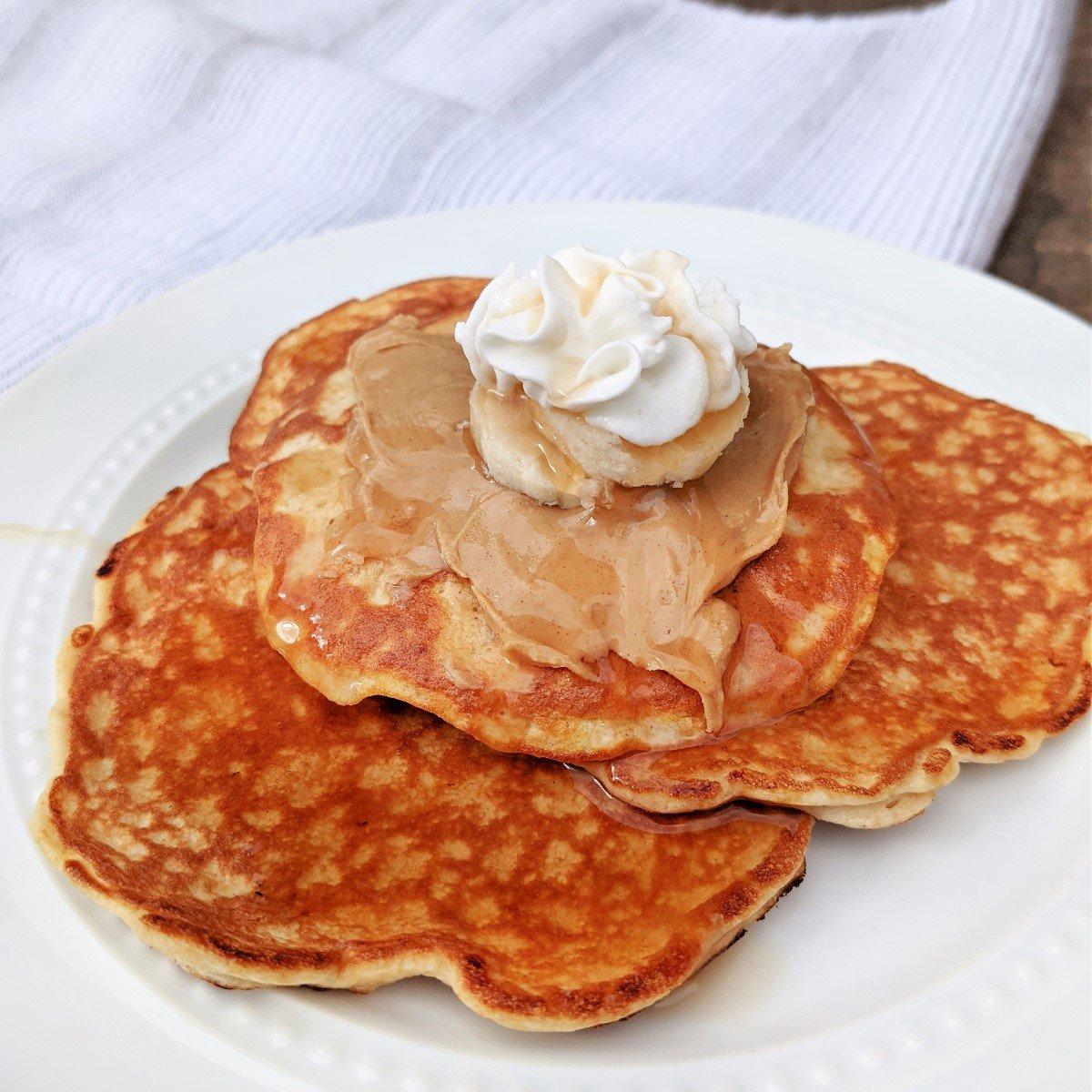 gluten free protein peanut butter pancakes